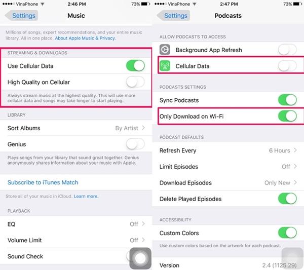 5 Cài đặt giúp tiết kiệm dung lượng 3G trên iPhone