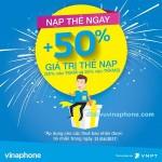 Khuyến mãi Vinaphone ngày 21/4/2017 tặng 50% giá trị thẻ nạp