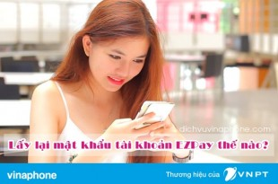 Hướng dẫn lấy lại mật khẩu tài khoản EZPay Vinaphone