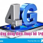 Danh sách các dòng điện thoại có hỗ trợ mạng 4G Vinaphone