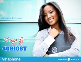 Hướng dẫn đăng ký gói cước 4GBIGSV mạng Vinaphone
