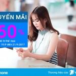 Vinaphone khuyến mãi 50% giá trị thẻ nạp từ ngày 19/9 – 21/9/2017