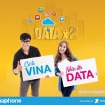 Vinaphone khuyến mãi nhân đôi dung lượng data từ nay đến tháng 2/2018