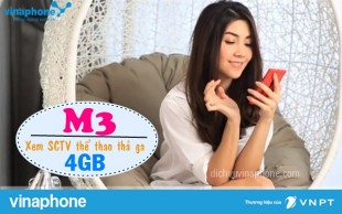 Đăng ký gói M3 mạng Vinaphone