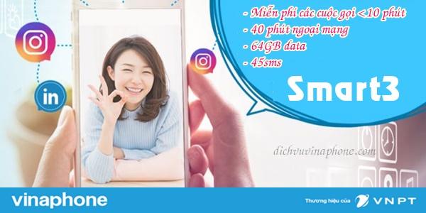 Đăng ký gói Smart3 của Vinaphone