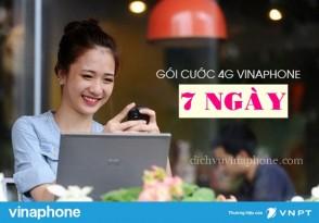 Các gói cước 4G dùng 7 ngày Vinaphone