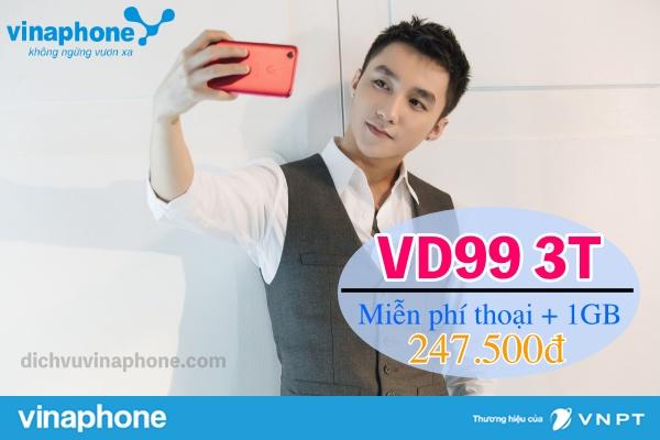Đăng ký gói VD99 3T mạng Vinaphone