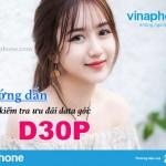Cách kiểm tra ưu đãi gói D30P mạng Vinaphone chính xác nhất