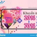 Khuyến mãi 20% – 70% thẻ nạp Vinaphone nhân ngày Nhà Giáo 20/11/2020